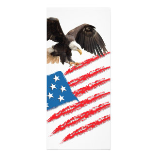 US America Flag Rack Card