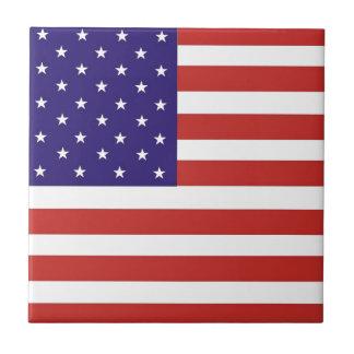 US America Flag Tile