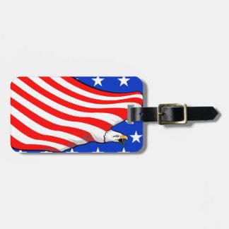 US American Eagle Flag Luggage ID Tag