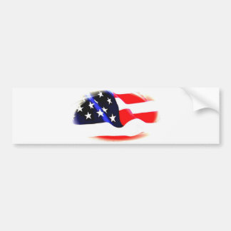 US American Flag Bumper Sticker