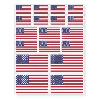 US AMERICAN FLAG   CUSTOM TEMPORARY TATTOOS