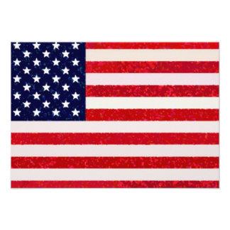 US - American Flag Invitation