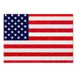 "US - American Flag Invitation 3.5"" X 5"" Invitation Card"