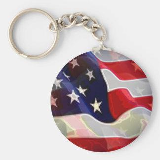 US American Flag Keychain