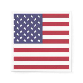 US AMERICAN FLAG   PAPER NAPKIN