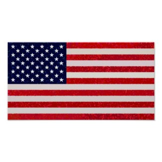 US - American Flag Pop Art Poster Print