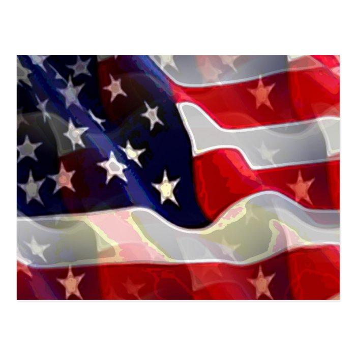 US American Flag Postcard