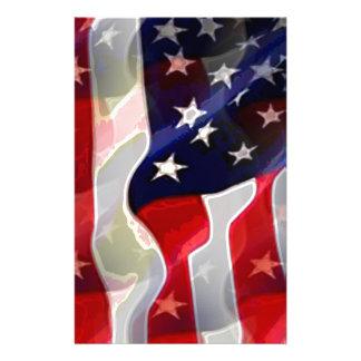 US American Flag Stationery
