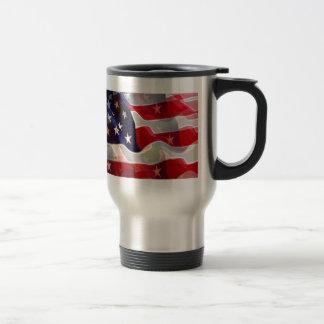 US American Flag Travel Mug