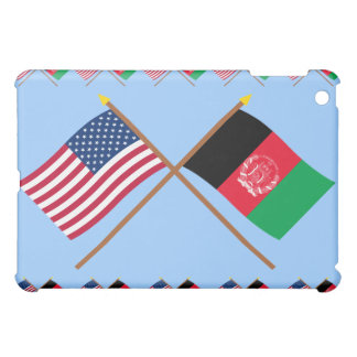 US and Afghanistan Crossed Flags iPad Mini Covers