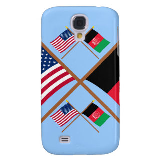 US and Afghanistan Crossed Flags Samsung Galaxy S4 Cases