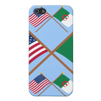 US and Algeria Crossed Flags iPhone 5/5S Covers