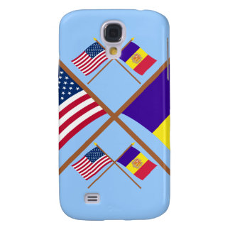 US and Andorra Crossed Flags Galaxy S4 Covers