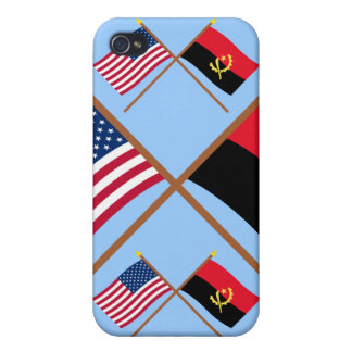 US and Angola Crossed Flags iPhone 4 Covers