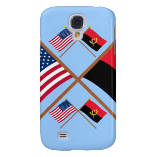 US and Angola Crossed Flags Samsung Galaxy S4 Case