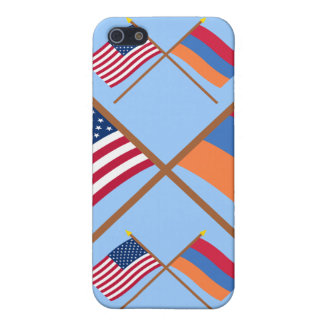 US and Armenia Crossed Flags iPhone 5 Covers
