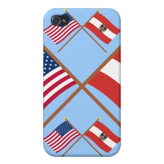 US and Austria Crossed Flags iPhone 4 Cover