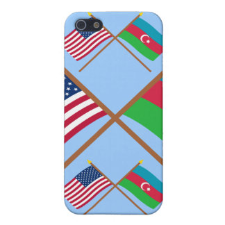 US and Azerbaijan Crossed Flags iPhone 5/5S Case
