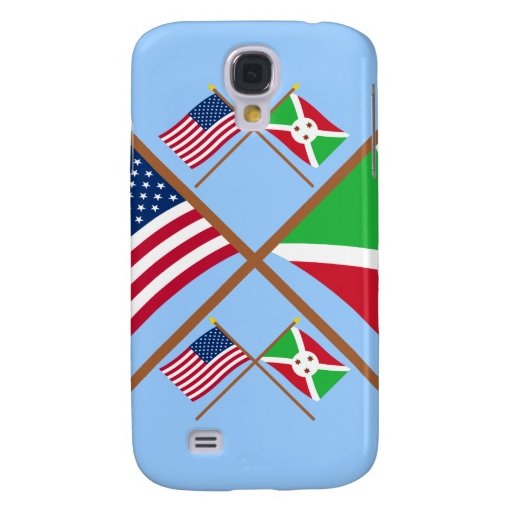 US and Burundi Crossed Flags Galaxy S4 Cases