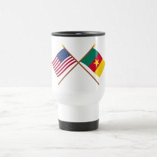 US and Cameroon Crossed Flags Coffee Mug