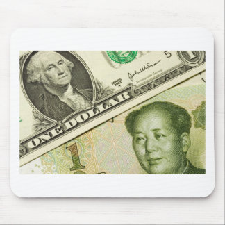 US and Chinese currency Mouse Pad