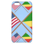 US and Congo Republic Crossed Flags iPhone 5C Covers
