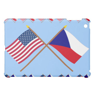 US and Czech Republic Crossed Flags iPad Mini Covers