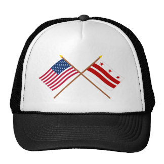 US and District of Columbia Crossed Flags Trucker Hat