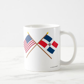 US and Dominican Republic Crossed Flags Coffee Mug