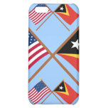 US and East Timor Crossed Flags Cover For iPhone 5C