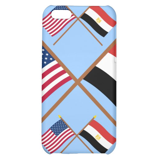 US and Egypt Crossed Flags Case For iPhone 5C