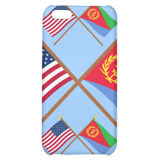 US and Eritrea Crossed Flags Cover For iPhone 5C