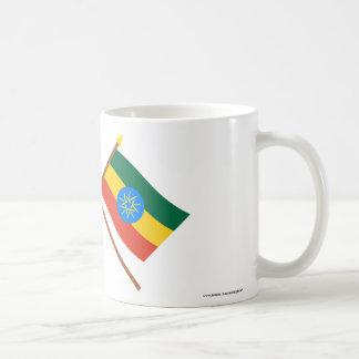 US and Ethiopia Crossed Flags Coffee Mug