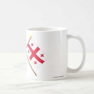 US and Georgia Republic Crossed Flags Mug