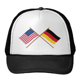 US and Germany Crossed Flags Trucker Hat