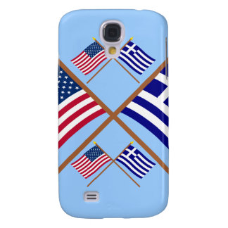 US and Greece Crossed Flags Samsung Galaxy S4 Cover