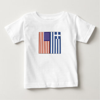 US and Greece Flags Baby T-Shirt