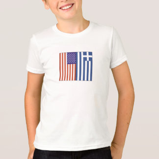 US and Greece Flags T-Shirt