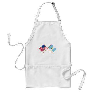 US and Guatemala Crossed Flags Adult Apron