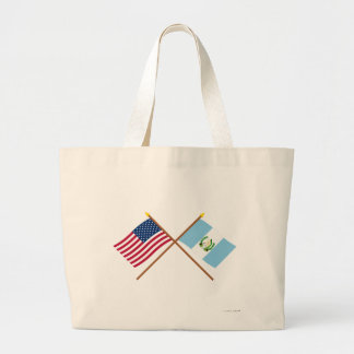 US and Guatemala Crossed Flags Bags