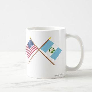 US and Guatemala Crossed Flags Coffee Mug