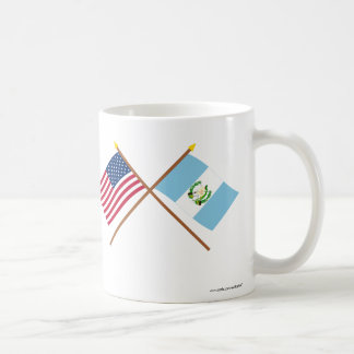 US and Guatemala Crossed Flags Mug