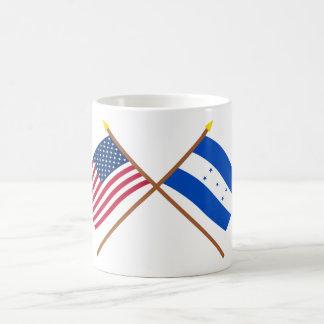 US and Honduras Crossed Flags Classic White Coffee Mug
