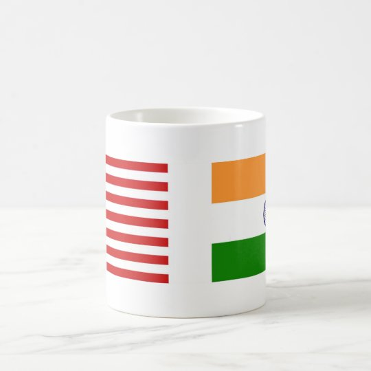 US and Indian Flags Coffee Mug