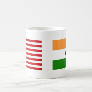 US and Indian Flags Classic White Coffee Mug