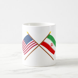 US and Iran Crossed Flags Mugs