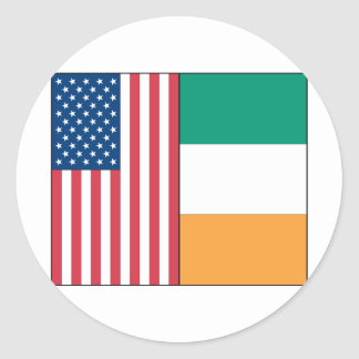Us and Ireland Flags Sticker
