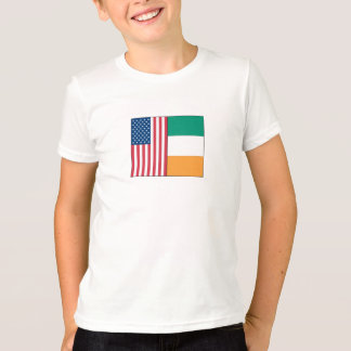 Us and Ireland Flags T-Shirt