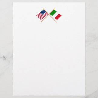 US and Italy Crossed Flags