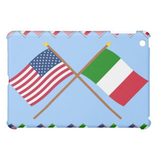 US and Italy Crossed Flags Case For The iPad Mini
